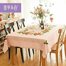 JinYiDian'Shop-Frische kleine Tischdecke, pink