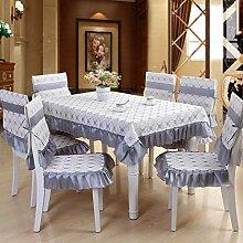 JinYiDian'Shop-Garten Tischdecke Stoff, hochwertige europäische Tischdecke Tisch Stuhl, setzen moderne Einfachheit, B, 110