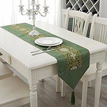 Jinyidian'Shop-Home moderner, minimalistischer Schreibtisch Flagge chinesische Tischdecke pad Schreibunterlage essen Pad reichen drei Verzweigung Blau verbringen,
