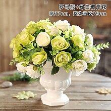 Jinyidian 'Shop-Keramik Vasen Emulation Flower Kit Continental Home Desktop Zubehör Tisch Wohnzimmer mit Teil 8