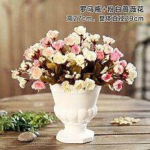 Jinyidian 'Shop-Keramik Vasen Emulation Flower Kit Continental Home Desktop Zubehör Tisch Wohnzimmer Verzierungen, 12.