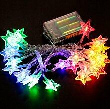 Jinyidian'Shop-LED-Leuchten, Batterie Beleuchtung, Weihnachten Dekoration Beleuchtung, Farbe