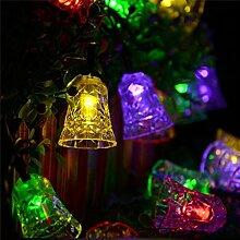 Jinyidian'Shop-Ling Dang Solar Lampe string, mehrfarbige Leds string Lichter, Dekoration für Weihnachten Karneval, Viole