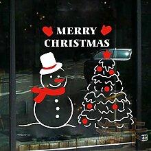 JinYiDian 'Shop-Schneemann Steckdosen neues Jahr Glas Türen Unternehmen Fenster ist eingerichtet und in einem Schnee dekoriert, 1,49*55 cm Aufkleber