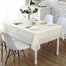 JinYiDian'Shop-Spitze wasserfeste Tischdecke, wasserdichte Ölfreie waschen Tischdecke Tisch Kissen pastorale Europäischen Tischdecke, single, C, 100