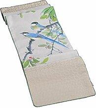 Jinyidian'Shop-Vogel Tabelle flag Tischdecke Esstisch pad Tischdecke TV-Schrank der Tea Garden Kissen Tischdecke Tischdecke home Bett Handtuch, 165 * 33 cm