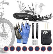 JIPRENS Fahrrad Reparatur Set, 16 in 1 Werkzeuge