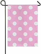 JIRT Doppelseitige 12 x 18 Zoll White Dot Pink