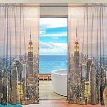 JIRT Gardinen-Sunset New York City Wolkenkratzer-2