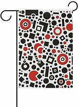 JIRT Garten-Flagge, 30,5 x 45,7 cm, Bunte Quadrate
