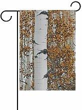 JIRT Garten-Flagge, 30,5 x 45,7 cm, Herbstwald,