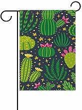 JIRT Garten-Flagge, 30,5 x 45,7 cm, Kaktusmuster,