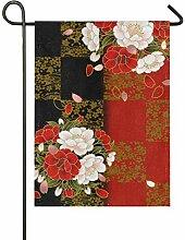 JIRT Hof Blumen japanischen Stil Blumen 12 x 18