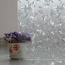 Jirvyuk Fensterfolie Dekorfolie Sichtschutzfolie Statische Folie Selbsthaftend (ohne Kleber) (45x200CM)