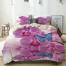 JISMUCI beige Bettwäsche Set,Schmetterlings