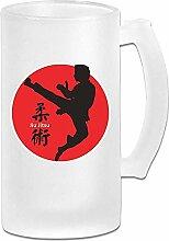 Jiu Jitsu DIY Druck Glas Bier Wasser Tasse