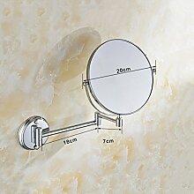 JIUCHANPIN Ausfahrbare schminkspiegel,Antike bad kosmetikspiegel Wandspiegel Folding teleskop-spiegel Doppelseitige make-up spiegel im badezimmer Lupe-B