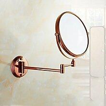 JIUCHANPIN Ausfahrbare schminkspiegel,Antike spiegel falten Europäischen stil bad kosmetikspiegel Wandspiegel teleskop-D
