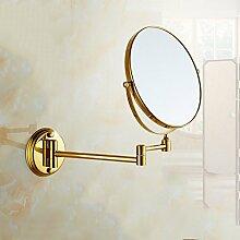 JIUCHANPIN Ausfahrbare schminkspiegel,Antike spiegel falten Europäischen stil bad kosmetikspiegel Wandspiegel teleskop-C