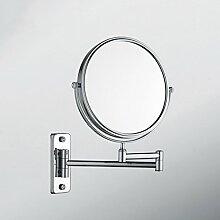 JIUCHANPIN Ausfahrbare schminkspiegel,Bad kosmetikspiegel Badezimmer spiegel falten Make-up-spiegel Wand-teleskop drehspiegel-A