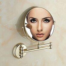 JIUCHANPIN Ausfahrbare Schminkspiegel,Doppelzimmer Bad Wand-kosmetikspiegel Teleskopische Klapp Kosmetik Wandspiegel