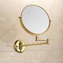 JIUCHANPIN Extendablewallmirror,Bad kosmetikspiegel Teleskopische klapp kosmetik wandspiegel Bad zweiseitige vergrößerung endoskopie Kommode spiegel-D