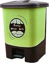 JiuErDP Pedal-Art Mülleimer zu Hause Wohnzimmer