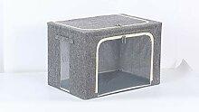 JIUJ Faltbare Aufbewahrungsboxen Stoff quadratisch