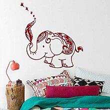 jiushizq Abnehmbare Wandtattoo Elefant Mandala