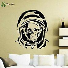 jiushizq Astronaut Totenkopf Vinyl Wandaufkleber