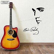 jiushizq Wandtattoo Elvis Presley Wandaufkleber
