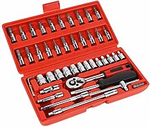 JIUY Socket Set Kombi-Werkzeug-Schlüssel-Set