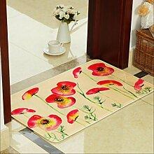 JIXIA® Pastoral Badematte Teppich Türmatte Wohnzimmer Schlafzimmer Flur Bad Wildleder Matte , 4 , 50*120cm