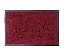 JIXIA® Seiko geschickt geprägten Gummieingangsmatten Türmatte Antirutschmatten Teppich-Fußmatten mit Sicherheitsmatte , 2