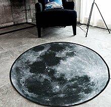 JIXIA Teppiche Kreativer Mond/Erde/Mars Rundschreiben Teppich Wohnzimmer Schlafzimmer Matten, 3, 60x60cm
