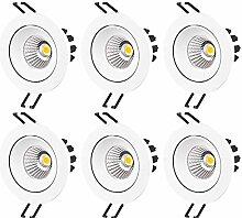 JIYUERLTD LED Einbauleuchten Dimmbar Farbe Weiss 6