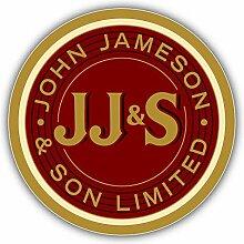 JJ&S John Jameson Drink Whiskey Logo -