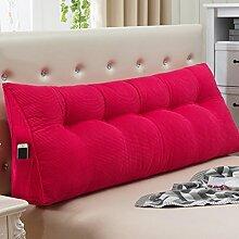 JJBZ Kissen Rücken Sofa Bett Großes gefülltes Schlafzimmer mit Doppelbett Bett Rückenlehne Kissen Sofa Kissen Büro Lendenwirbelsäule mit abnehmbare Reinigung Kissen ( größe : 120*50*22cm )