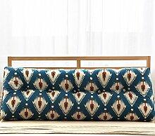 JJBZ Kissen Rücken Sofa Bett Großes gefülltes Schlafzimmer mit Doppelbett Bett Rückenlehne Kissen Sofa Kissen Büro Lendenwirbelsäule mit abnehmbaren Reinigung (90CM, 100CM, 120CM, 135CM, 150CM) ( Farbe : A , größe : 120*22*50cm )