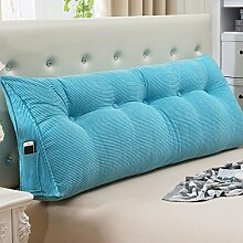 JJBZ Kissen Rücken Sofa Bett Großes gefülltes Schlafzimmer mit Doppelbett Bett Rückenlehne Kissen Sofa Kissen Büro Lendenwirbelsäule mit abnehmbare Reinigung Kissen ( größe : 135*50*22cm )