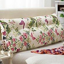 JJBZ Kissen Rücken Sofa Bett Großes gefülltes Schlafzimmer mit Doppelbett Bett Rückenlehne Kissen Sofa Kissen Büro Lendenwirbelsäule mit abnehmbaren Reinigung (100 * 22 * 50cm, 120 * 22 * 50cm, 150 * 22 * 50cm) ( Farbe : C , größe : 100*22*50cm )