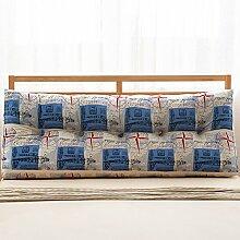 JJBZ Kissen Rücken Sofa Bett Großes gefülltes Schlafzimmer mit Doppelbett Bett Rückenlehne Kissen Sofa Kissen Büro Lendenwirbelsäule mit abnehmbaren Reinigung (90CM, 100CM, 120CM, 135CM, 150CM) ( Farbe : B , größe : 135*22*50cm )