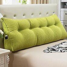 JJBZ Kissen Rücken Sofa Bett Großes gefülltes Schlafzimmer mit Doppelbett Bett Rückenlehne Kissen Sofa Kissen Büro Lendenwirbelsäule mit abnehmbare Reinigung Kissen ( größe : 150*50*22cm )