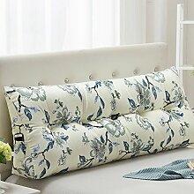 JJBZ Kissen Rücken Sofa Bett Großes gefülltes Schlafzimmer mit Doppelbett Bett Rückenlehne Kissen Sofa Kissen Büro Lendenwirbelsäule mit abnehmbaren Reinigung (90CM, 100CM, 120CM, 135CM, 150CM) ( Farbe : A , größe : 90*22*50cm )