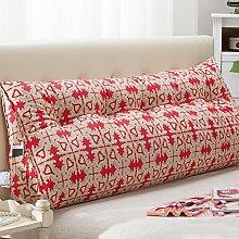 JJBZ Kissen Rücken Sofa Bett Großes gefülltes Schlafzimmer mit Doppelbett Bett Rückenlehne Kissen Sofa Kissen Büro Lendenwirbelsäule mit abnehmbaren Reinigung (100 * 22 * 50cm, 120 * 22 * 50cm, 150 * 22 * 50cm) ( Farbe : A , größe : 150*22*50cm )