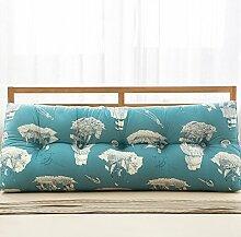 JJBZ Kissen Rücken Sofa Bett Großes gefülltes Schlafzimmer mit Doppelbett Bett Rückenlehne Kissen Sofa Kissen Büro Lendenwirbelsäule mit abnehmbaren Reinigung (90CM, 100CM, 120CM, 135CM, 150CM) ( Farbe : A , größe : 100*22*50cm )