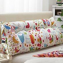 JJBZ Kissen Rücken Sofa Bett Großes gefülltes Schlafzimmer mit Doppelbett Bett Rückenlehne Kissen Sofa Kissen Büro Lendenwirbelsäule mit abnehmbaren Reinigung (100 * 22 * 50cm, 120 * 22 * 50cm, 150 * 22 * 50cm) ( Farbe : C , größe : 150*22*50cm )