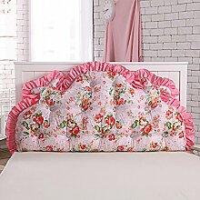 JJBZ Kissen Rücken Sofa Bett Großes gefülltes Schlafzimmer mit Doppelbett Bett Rückenlehne Kissen Sofa Kissen Büro Lendenwirbelsäule mit abnehmbaren Reinigung (120cm * 70cm, 150cm * 70cm) ( Farbe : A , größe : 150cm*70cm )