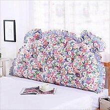 JJBZ Zurück Kissen Sofa Bett Großes gefülltes Schlafzimmer mit Doppelbett Bett Rückenlehne Kissen Lesen Kissen Büro Lendenwirbelsäule mit abnehmbarem Bezug ( Farbe : A , größe : 100*70cm )