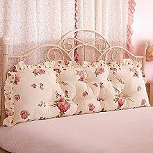 JJBZ Zurück Kissen Sofa Bett Großes gefülltes Schlafzimmer mit Doppelbett Bett Rückenlehne Kissen Lesen Kissen Büro Lendenwirbelsäule mit abnehmbarem Bezug ( Farbe : 2* , größe : 120*53cm )